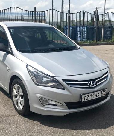 Hyundai Solaris АКПП серебристый 2015-2019